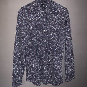 H&M abstract button down shirt